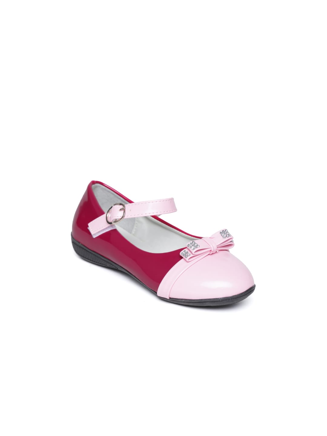 CUTECUMBER Girls Magenta & Baby Pink Mary Janes