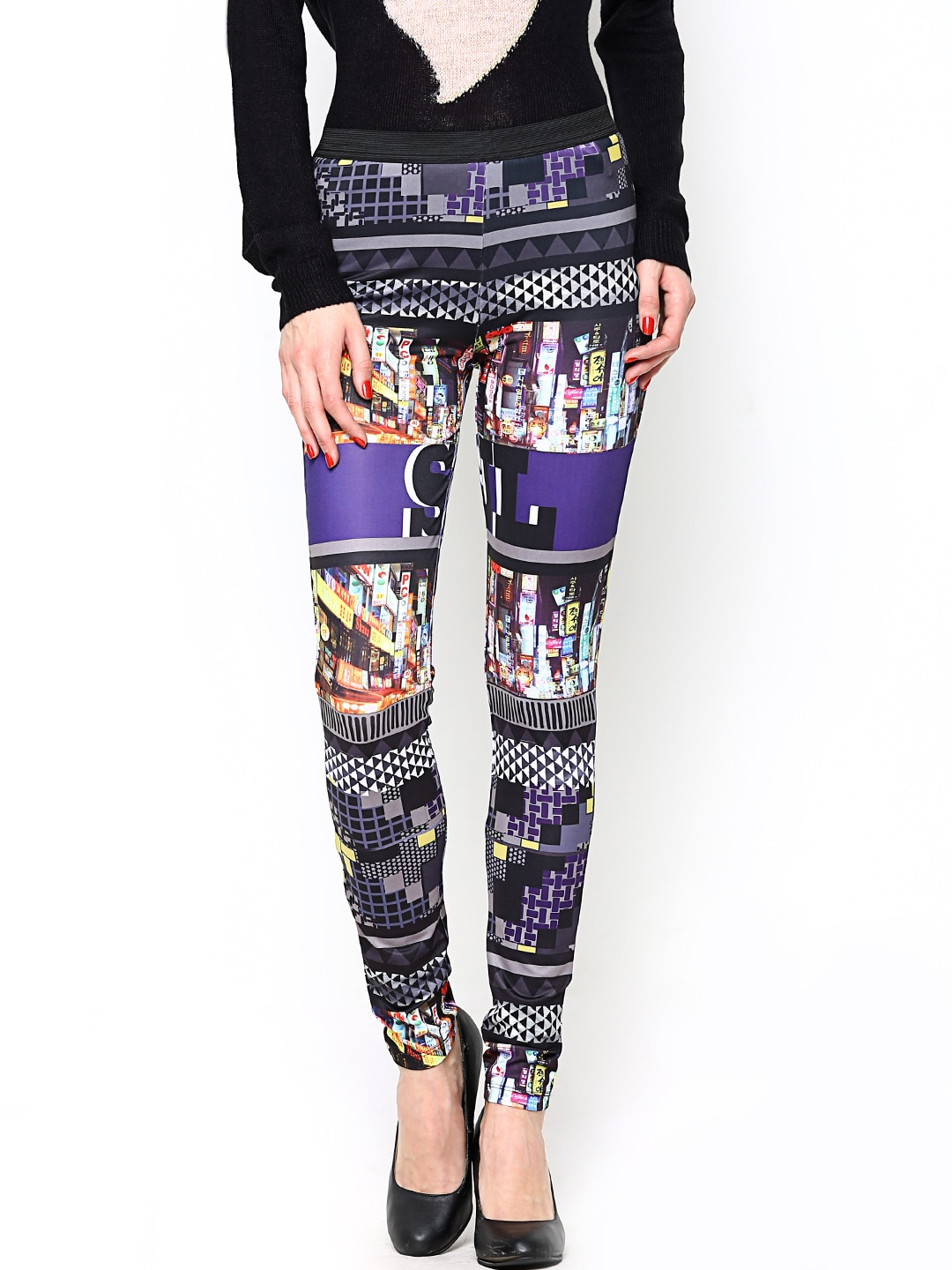 ONLY Women Multicoloured Printed Tights