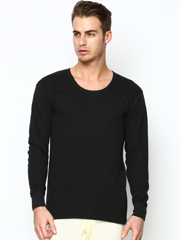 Duke Men Black Thermal T-shirt D1BK