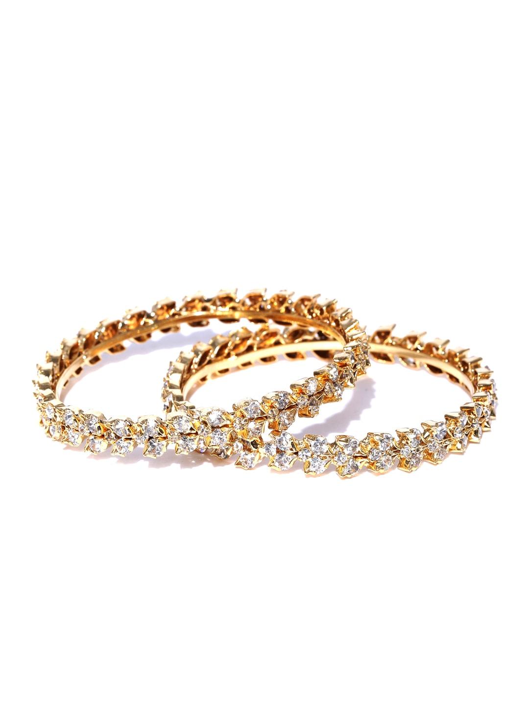 Sukkhi Set of 2 Gold-Plated Stone-Studded Bangles