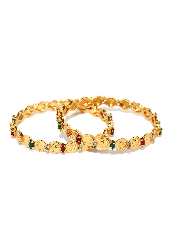 Sukkhi Set of 2 Gold-Plated Bangles