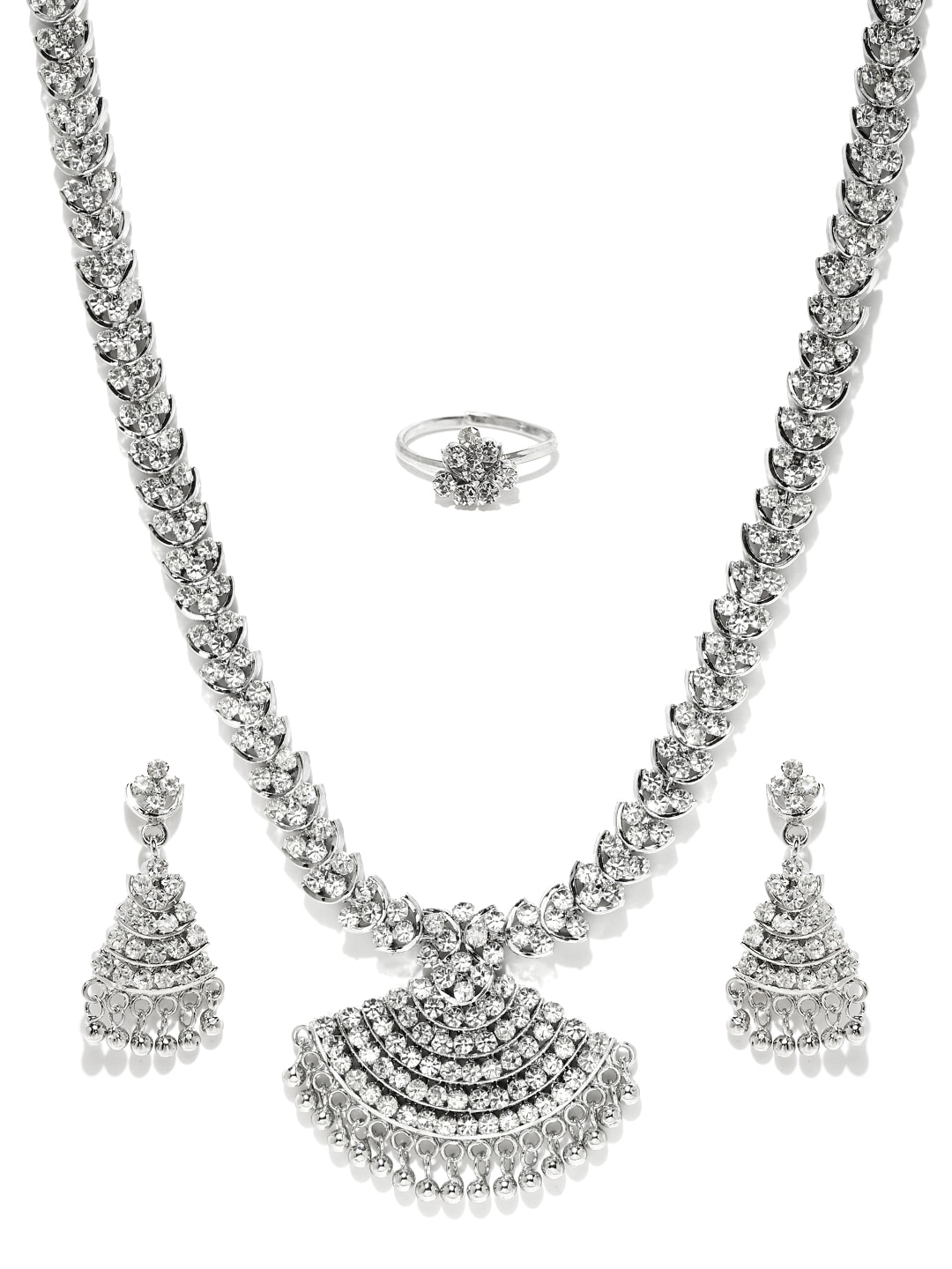Sukkhi Silver-Plated Jewellery Set