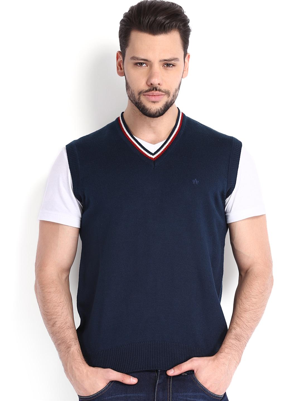 Arrow Sport Men Blue Woollen Sweater