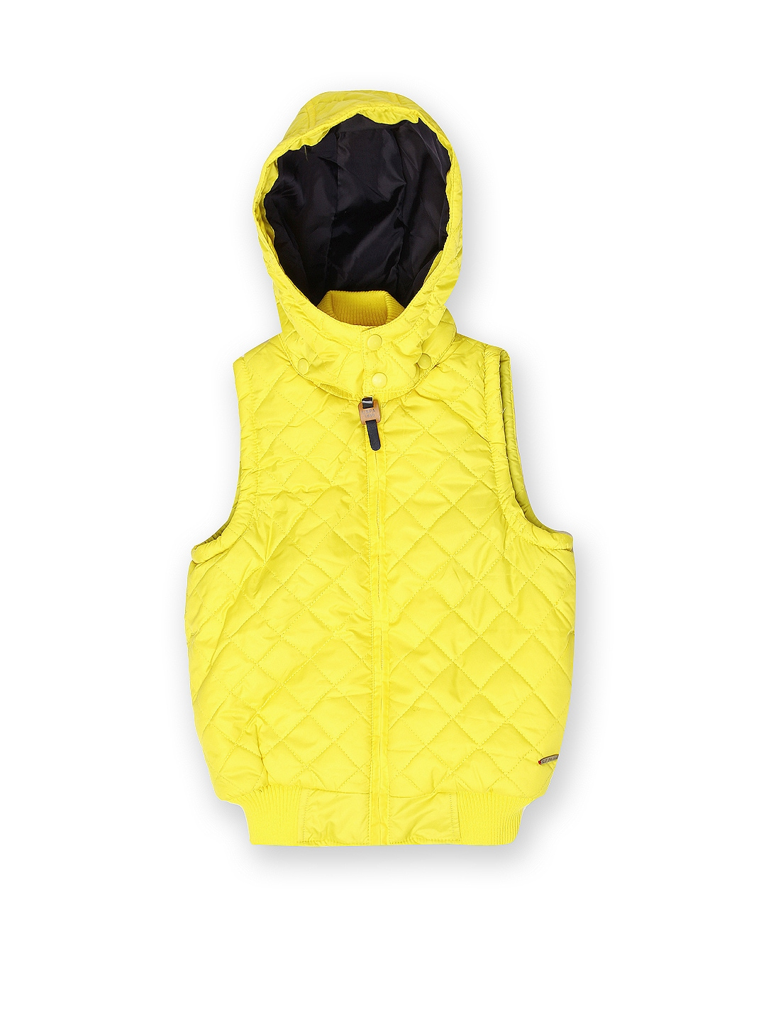 U.S. Polo Assn. Kids Boys Yellow Hooded Padded Jacket