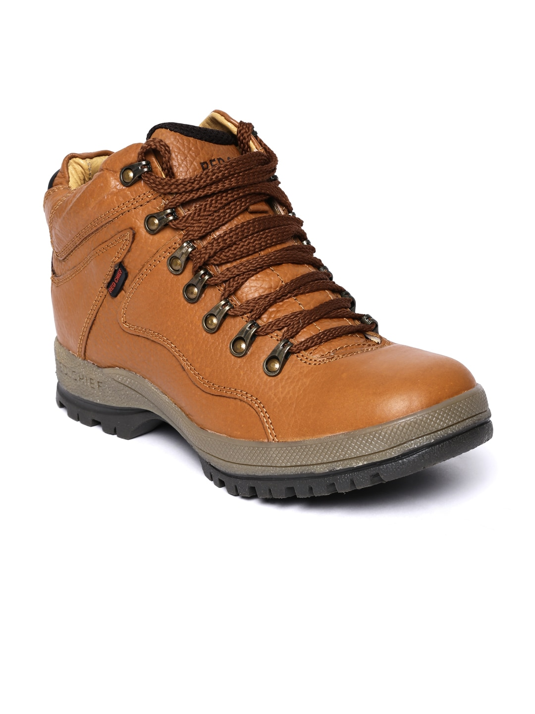 Red Chief Men Tan Brown Leather Boots