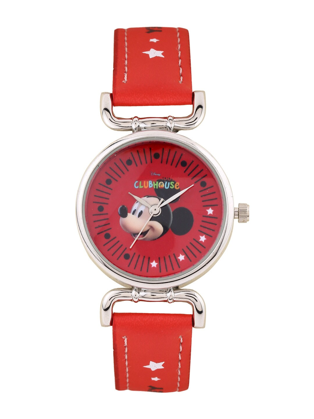 Disney Disney Boys Red Graphic Printed Dial Watch AW100220