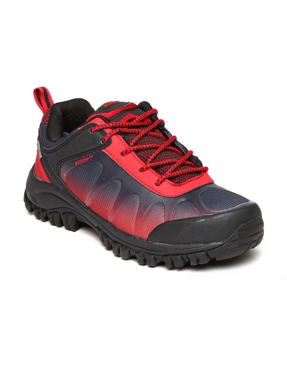 Wildcraft Men Black & Red Craggrip Spring Trekking Shoes