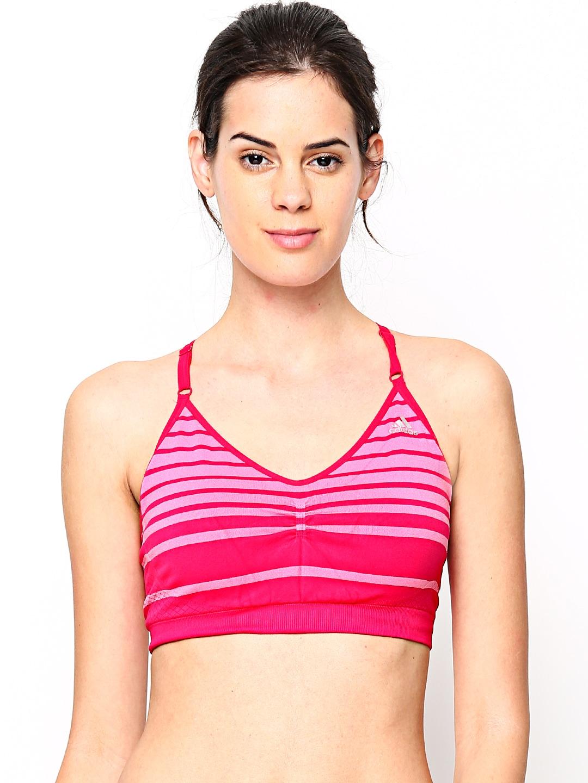 Adidas Adidas Pink Adipure Sports Bra D89663 (Multicolor)