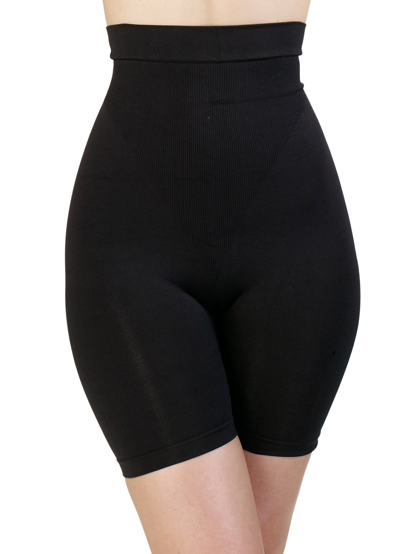 Swee Shapewear Black Seamless High Waist & Short Thigh Fern Shaper