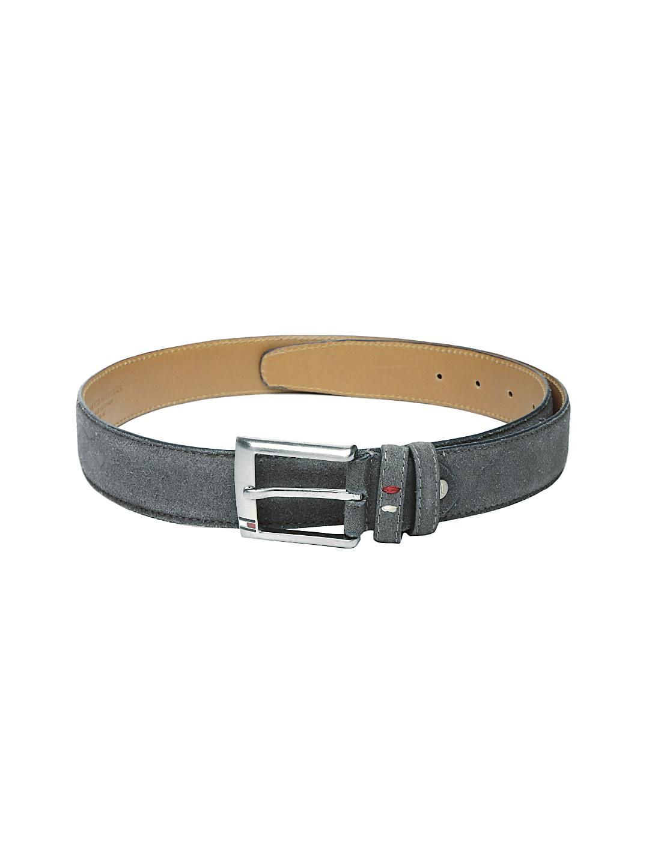 Tommy Hilfiger Men Grey Leather Belt