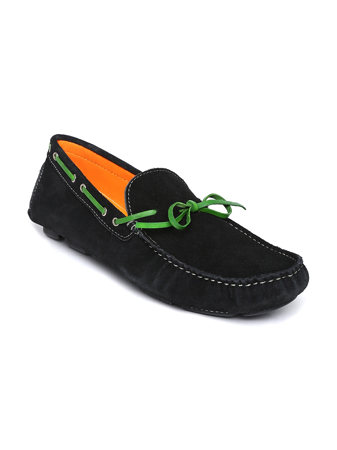 Famozi Famozi Men Black Suede Boat Shoes
