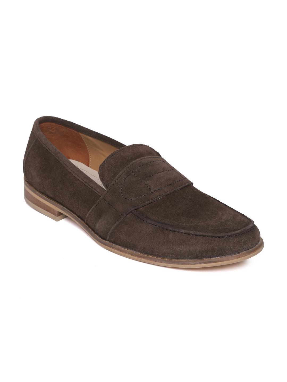 Famozi Famozi Men Coffee Brown Suede Casual Shoes (Multicolor)