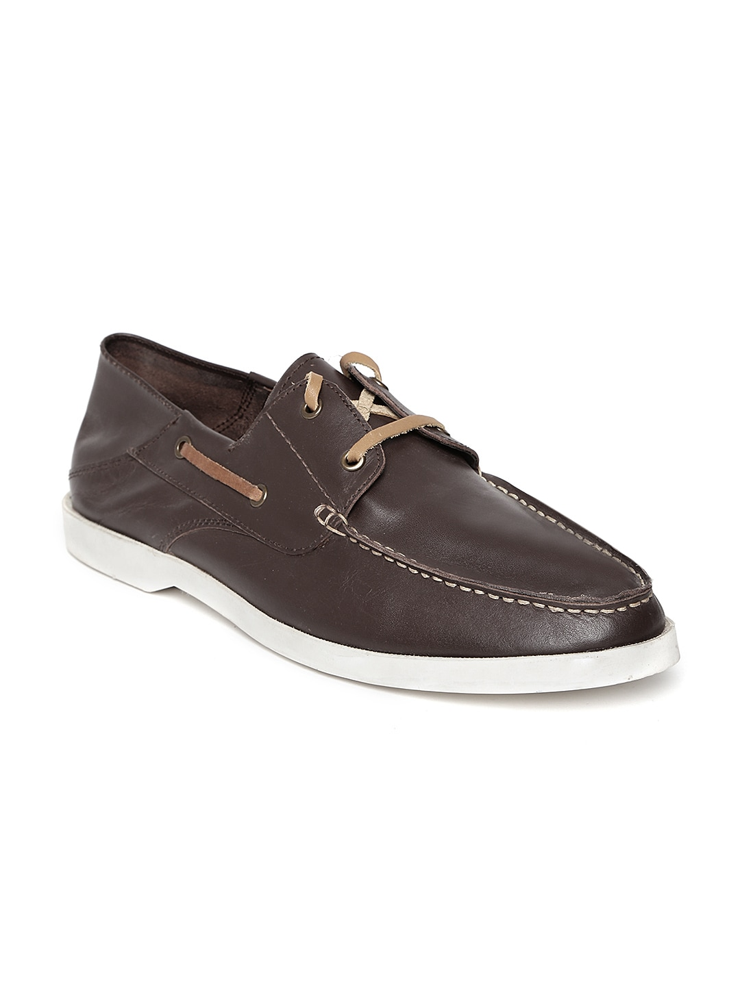 Famozi Famozi Men Brown Leather Casual Shoes