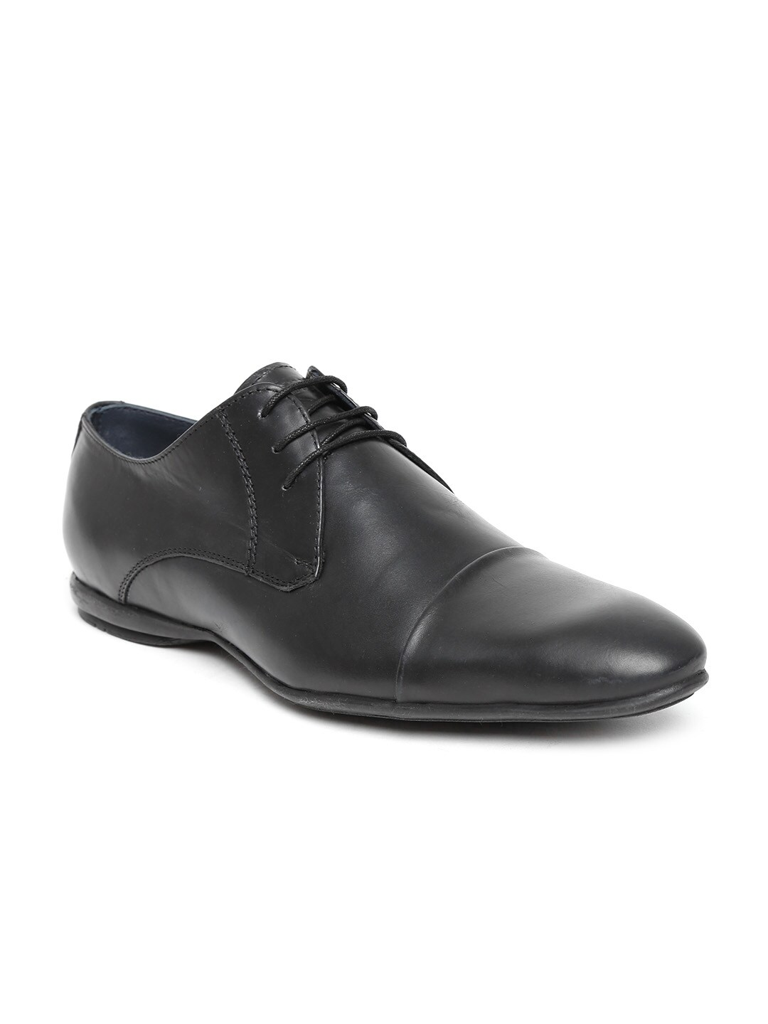 Famozi Famozi Men Black Leather Formal Shoes