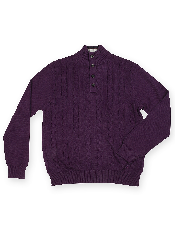 Nautica Men Purple Sweater