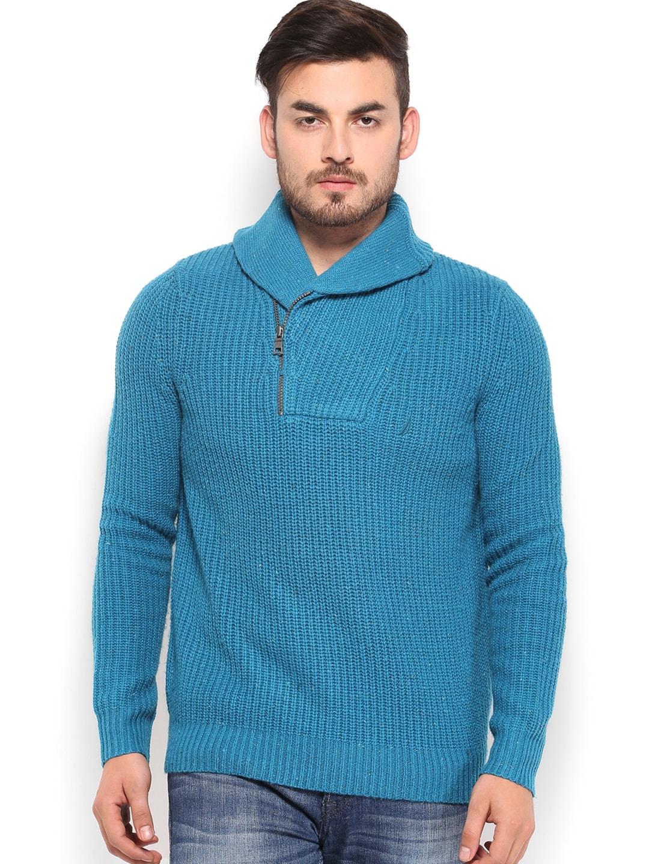Nautica Men Blue Woollen Sweater
