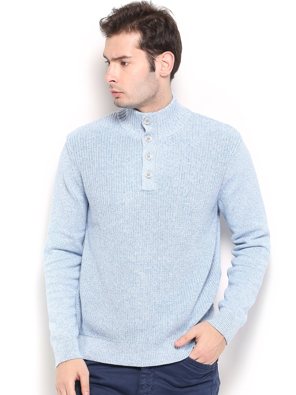 Nautica Men Light Blue Sweater