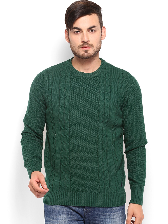 Nautica Men Green Sweater