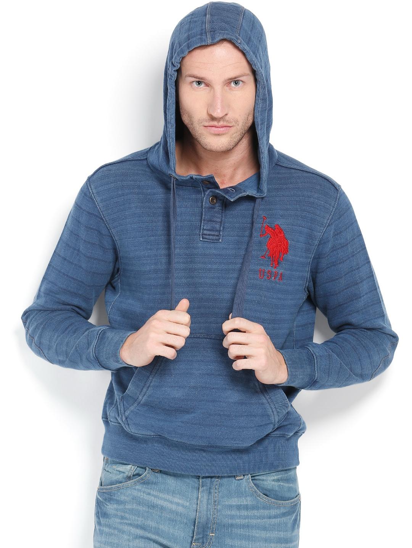 U.S. Polo Assn. Men Blue Sweatshirt