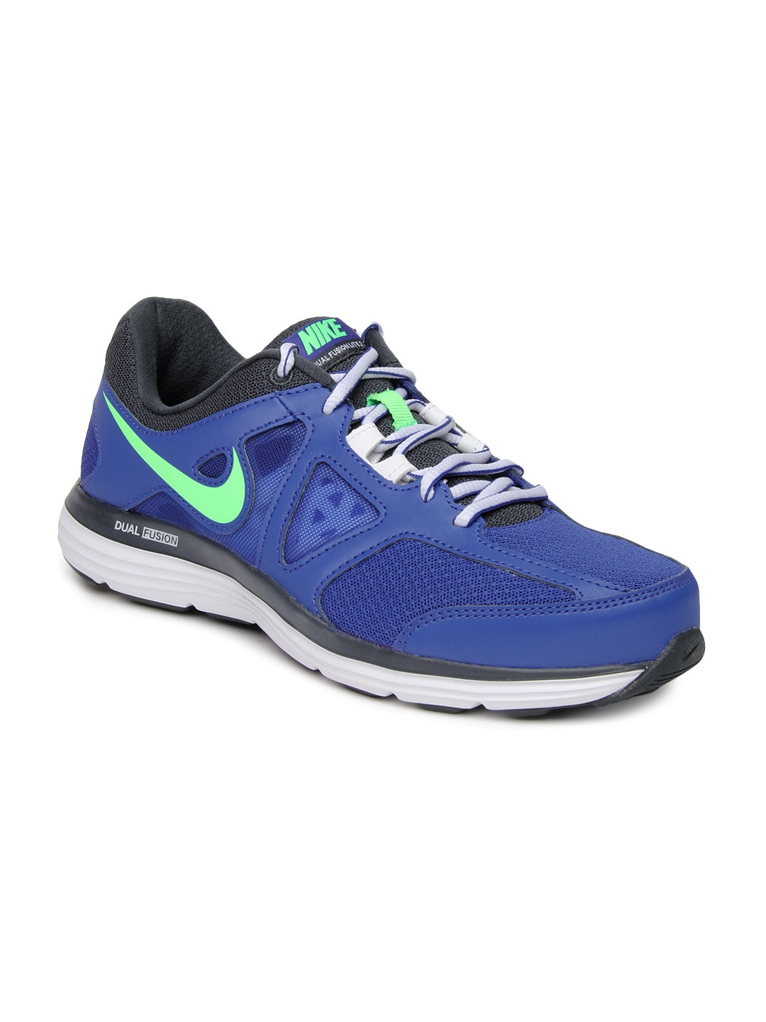 buy nike men blue dual fusion lite 2 msl running shoes 634 footwear for men 613083. Black Bedroom Furniture Sets. Home Design Ideas