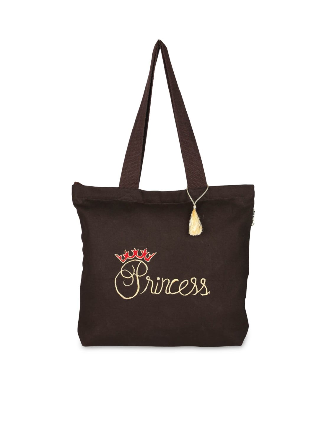 Pick Pocket Women Brown Printed Tote Bag