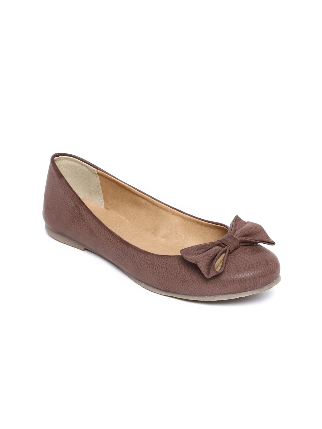 Zuicy Zuicy Women Dark Brown Ballerinas (Multicolor)
