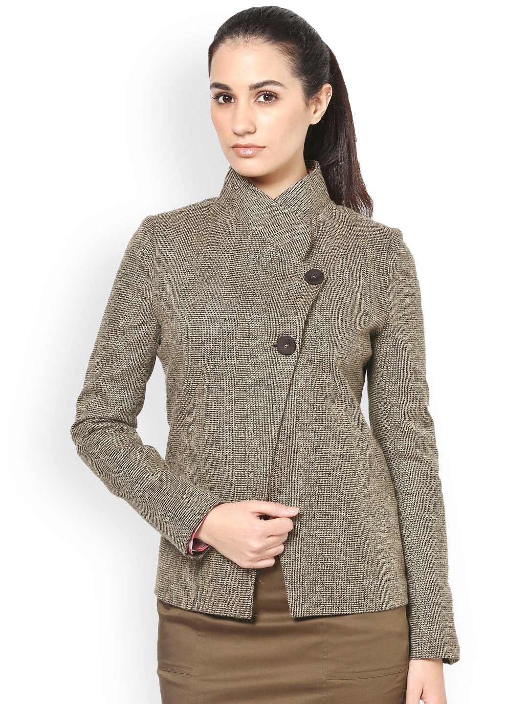 Kaaryah Kaaryah Women Brown Woollen Jacket