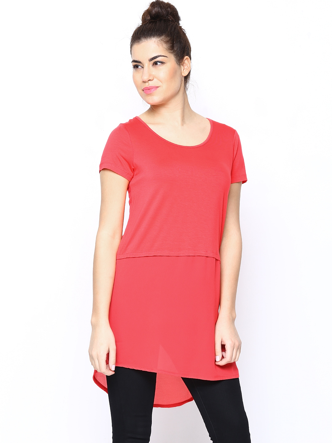 ONLY Women Coral Pink Tunic