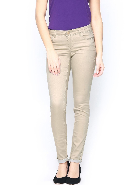ONLY Women Beige Trousers