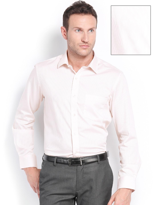Arrow Men Beige Premium Formal Fit Shirt