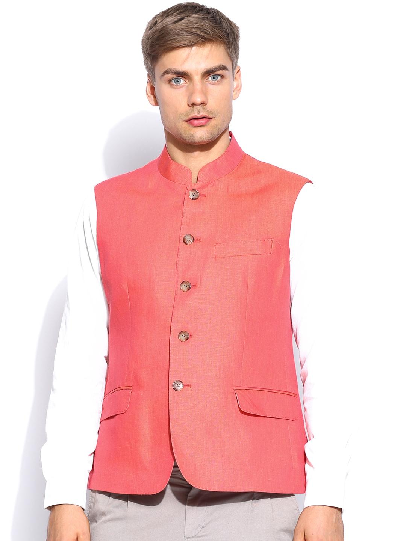 Arrow Men Orange Waistcoat