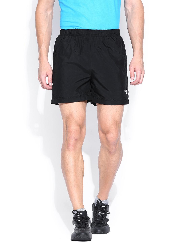 PUMA Men Black ESS Shorts