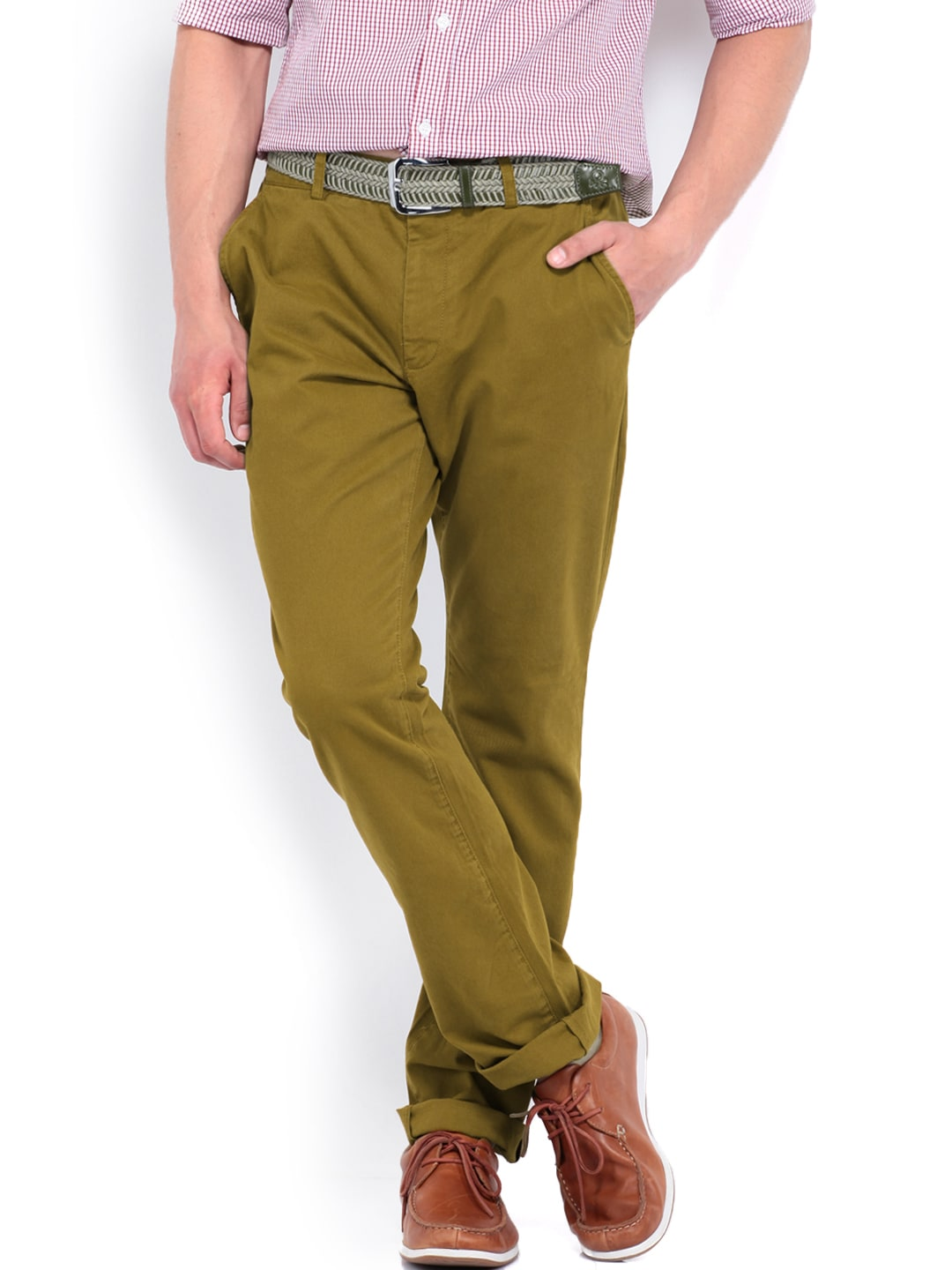 French Connection Men Brown Trousers
