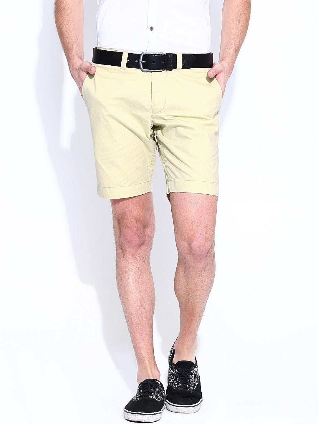 Being Human Clothing Men Beige Shorts