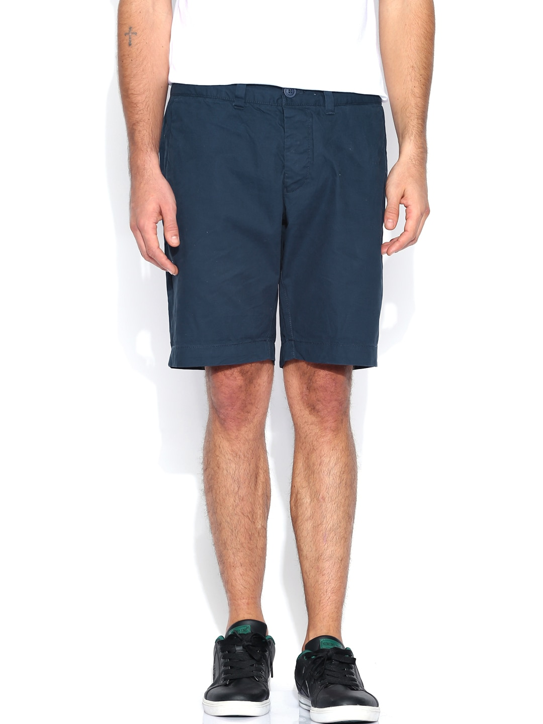 Being Human Clothing Navy Shorts