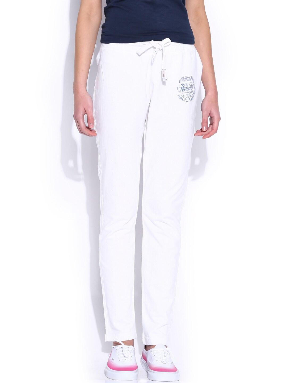HARVARD Bright White Varsity Track Pants