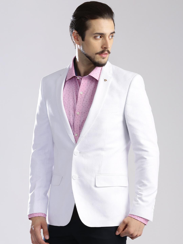 Images of White Linen Blazer Mens - Reikian