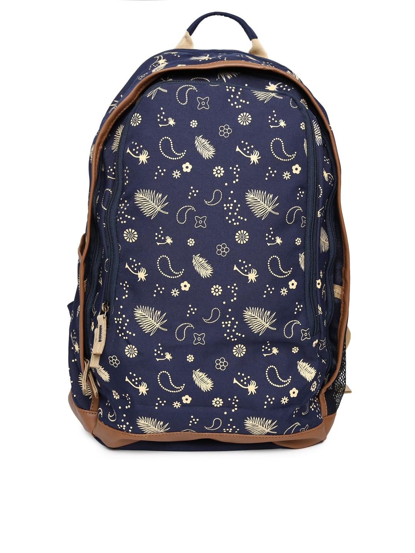 Gear Unisex Navy Printed Backpack