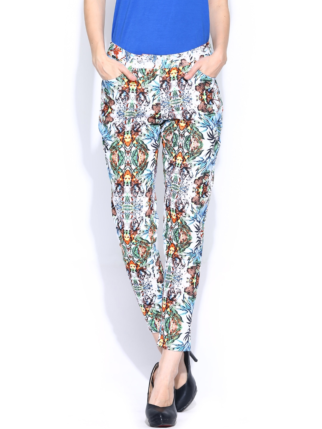 Akkriti by Pantaloons Women Multicoloured Printed Trousers