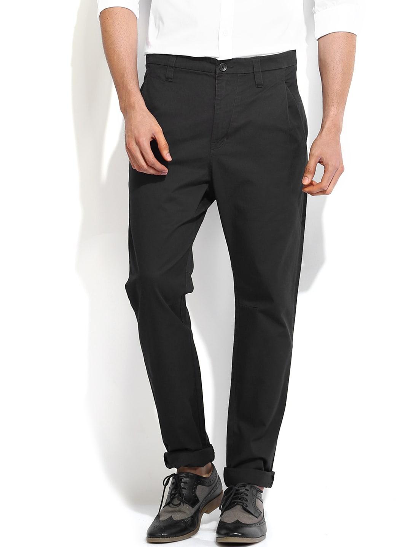 Calvin Klein Jeans Men Black Chino Trousers