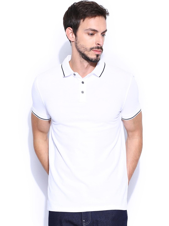 Calvin Klein Jeans Men White Polo T-shirt