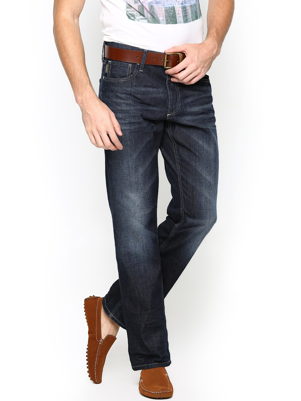 Jack & Jones Men Navy Boxy Loose Fit Jeans