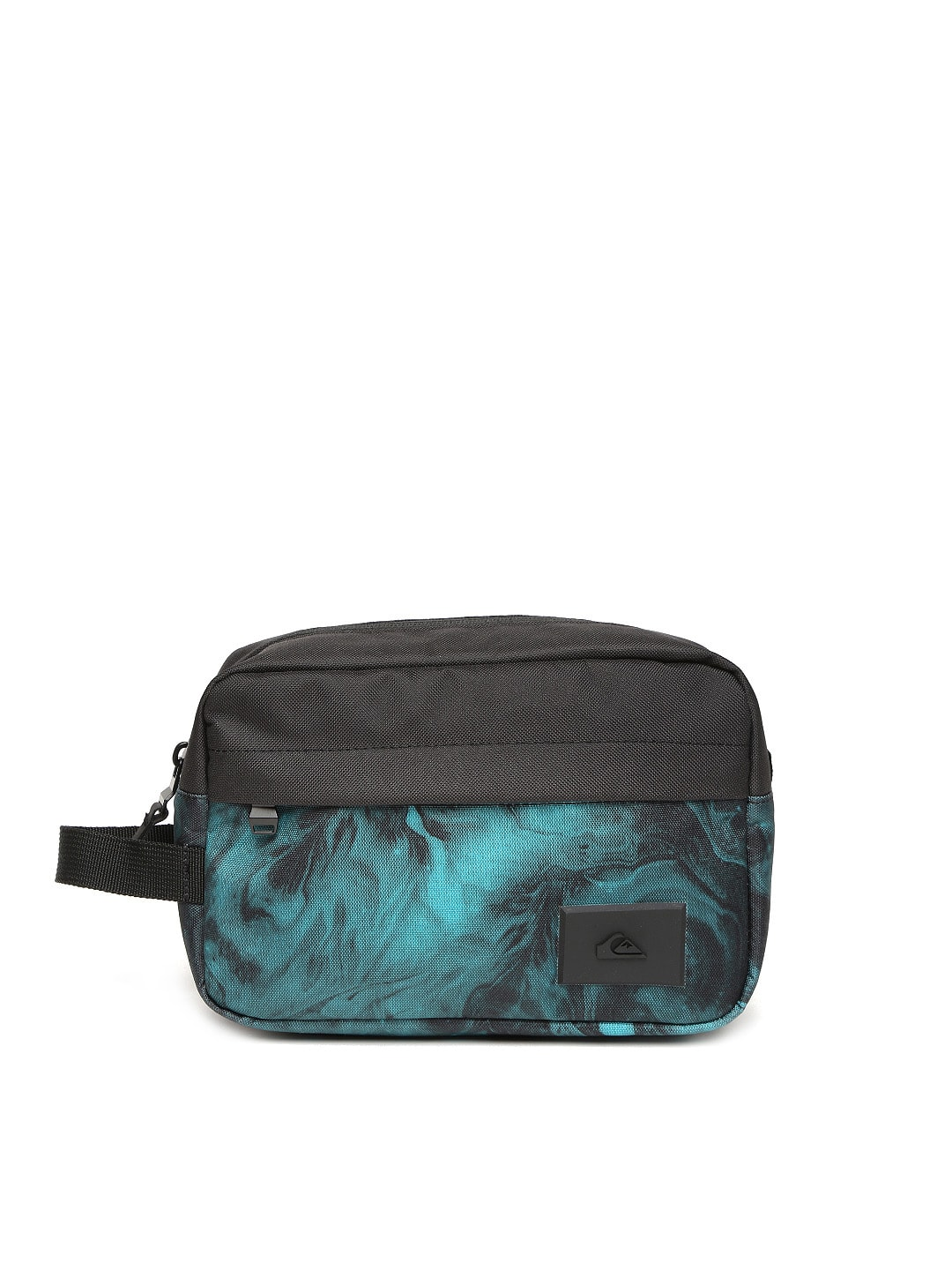 Quiksilver Men Black & Blue Printed Travel Bag