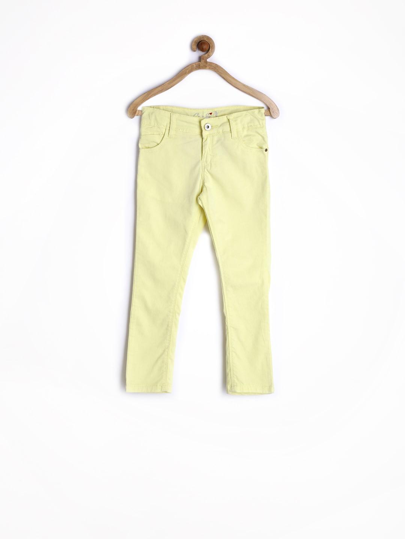 Gini and Jony Girls Lime Yellow Trousers