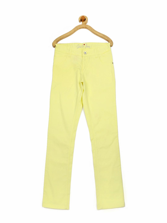 Gini & Jony Girls Yellow Trousers