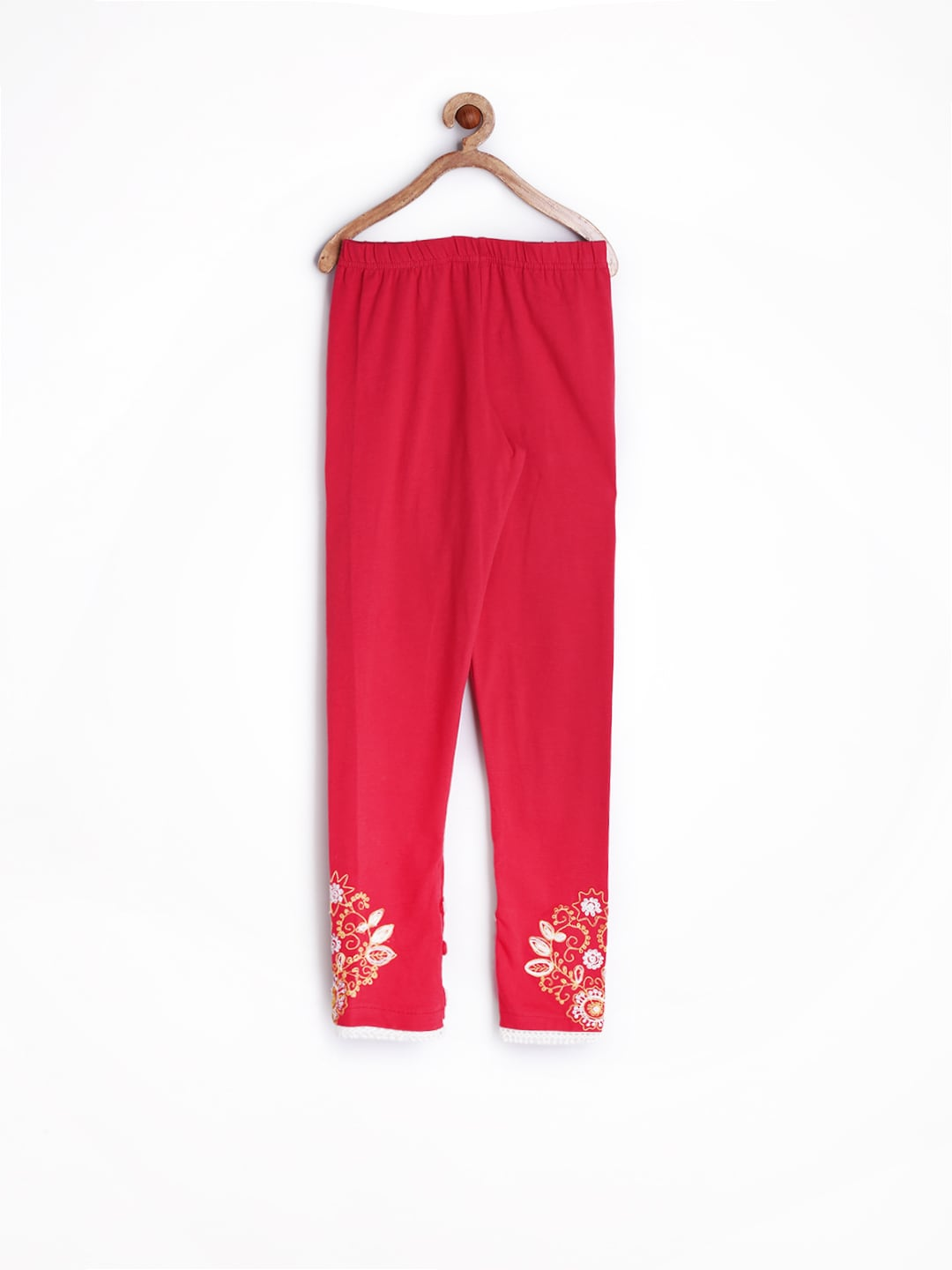 BIBA Girls Red Leggings
