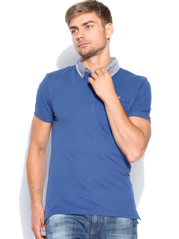 Celio Men Blue Polo T-shirt