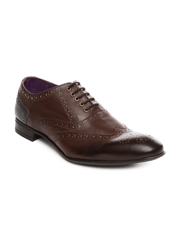 Knotty Derby Men Brown Viktor Brogue Formal Shoes