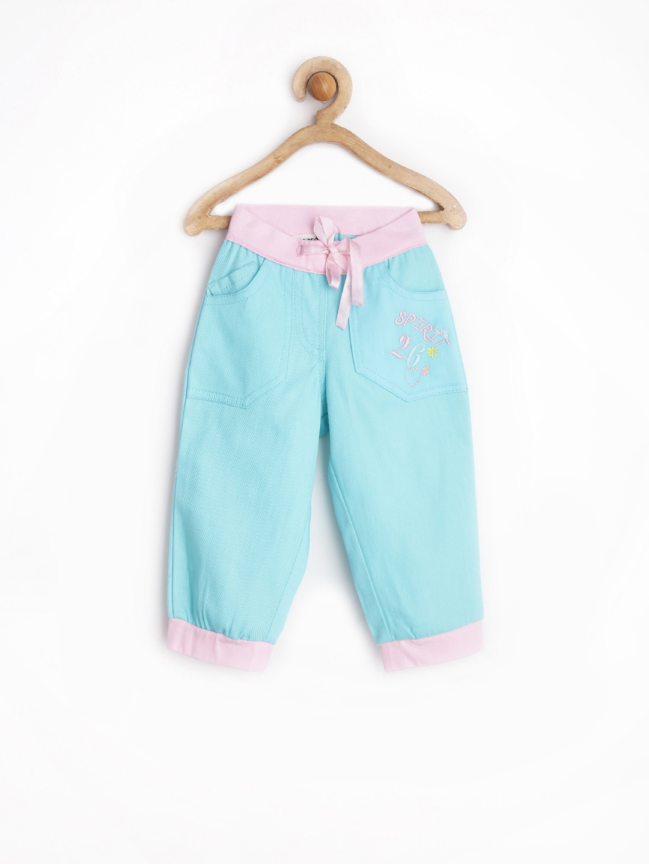 MeeMee Girls Light Blue Track Pants