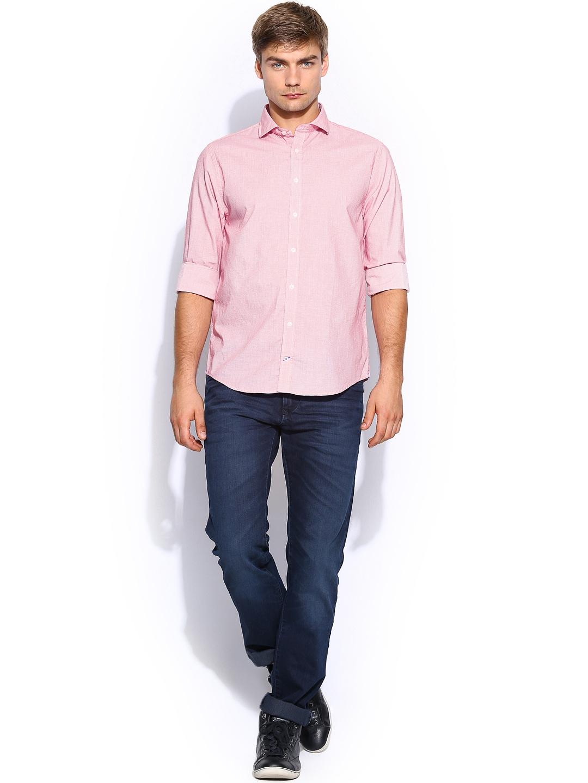 Dark Pink Men Shirt - Buy Dark Pink Men Shirt online in India